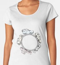 Vintage Cars on the Road Women's Premium T-Shirt