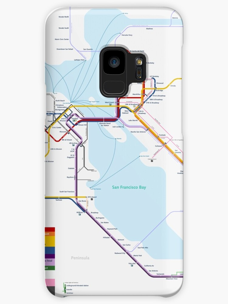 San Francisco Metro Map Cases Skins For Samsung Galaxy By