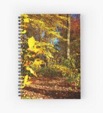Fall's Golden Moments, an October vignette  Spiral Notebook