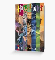 Harry Potter Cover Collage Greeting Card