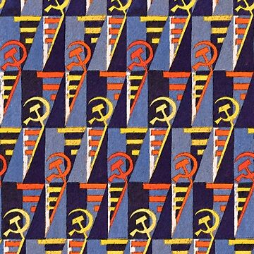 Hammer and Sickle Soviet Inspired Textile  by rosaluxemburg