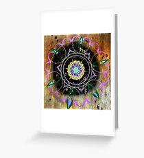 Wood Mandala Greeting Card
