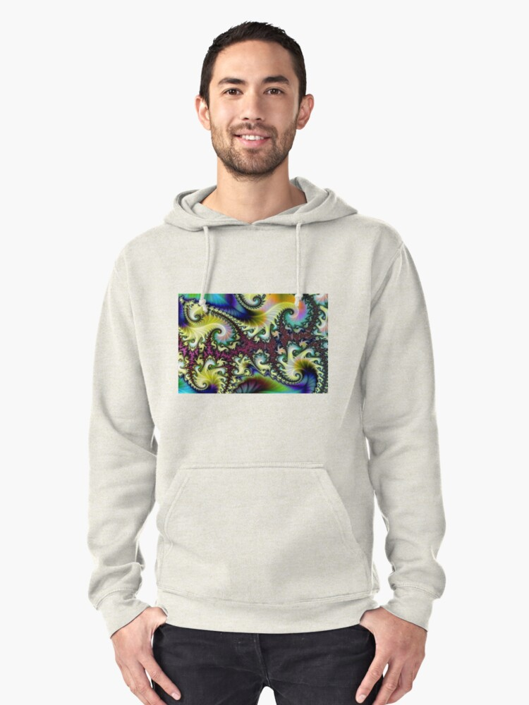 Psychedelic Dream. Pullover Hoodie Front