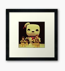 Stay Puft On The Charge Framed Print