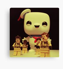 Stay Puft On The Charge Canvas Print