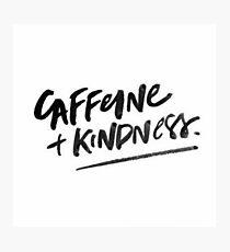 Koffein und Freundlichkeit Fotodruck