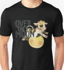 Over The Moon Baby Cow Gift for NEW MOM  T-Shirt