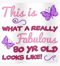 Fabulous 80th Birthday Poster