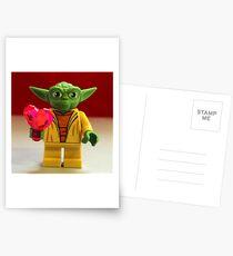 Yoda Valentines Postcards