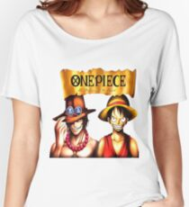 D. Ace & Luffy One Piece Women's Relaxed Fit T-Shirt