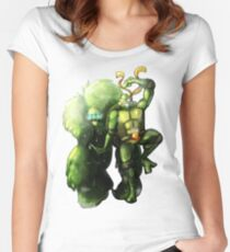 Mikey and the Monster - No background version  Women's Fitted Scoop T-Shirt
