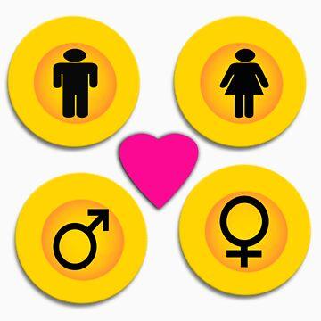 Male & Female Love by caltana