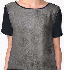 Old scratched metal texture Women's Chiffon Top