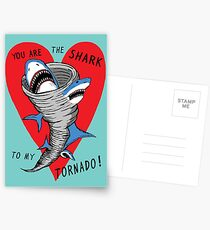 Shark To My Tornado Postcards