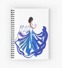 1920, The Blue and The White by HeavenNezCree Spiral Notebook