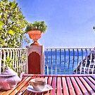 Teatime In Positano Italy by daphsam