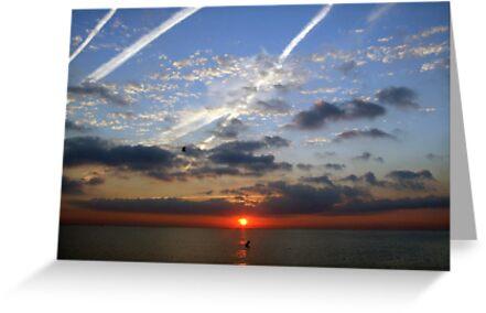 Sunrise in Barcelona by John Quinn