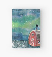 Winter Scene Watercolor Painting Hardcover Journal
