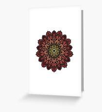 Fiery mandala  Greeting Card
