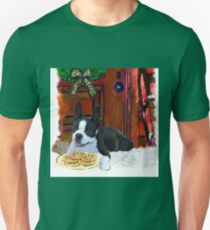 Boston Terrier Puppy Christmas Gifts T-Shirt