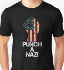 Punch A Nazi American Pride Tee T-Shirt