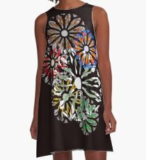 Rondel on Black A-Line Dress