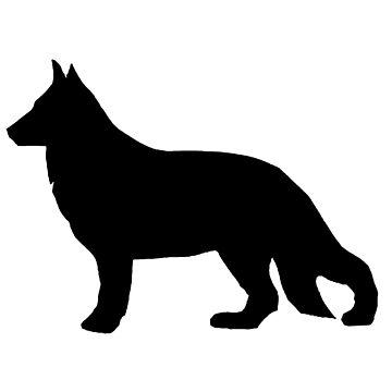 german shepherd silhouette by marasdaughter