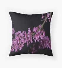 Tree with Flower Blossoms Throw Pillow