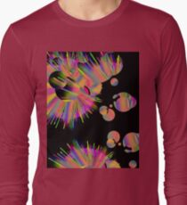 Neon Fireworks and sparkly sparks in space  T-Shirt