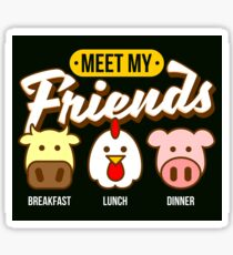 Vegan - Meet My Friends Sticker