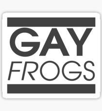 Gay Frogs - InfoWars Parody Sticker