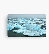 Coloured Icebergs Canvas Print