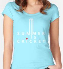 Summer is Cricket Women's Fitted Scoop T-Shirt