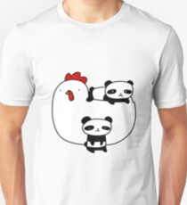 Chicken and Baby Pandas T-Shirt