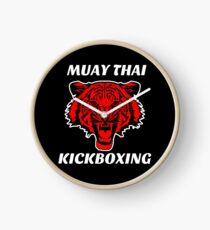 Muay thai kickboxing red tiger  Clock