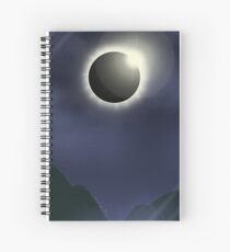 Solar Eclipse in the moutains Spiral Notebook