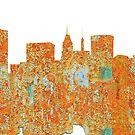 Baltimore, Maryland Skyline - Rost von Marlene Watson