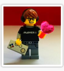 Lego Gamer Valentines Sticker