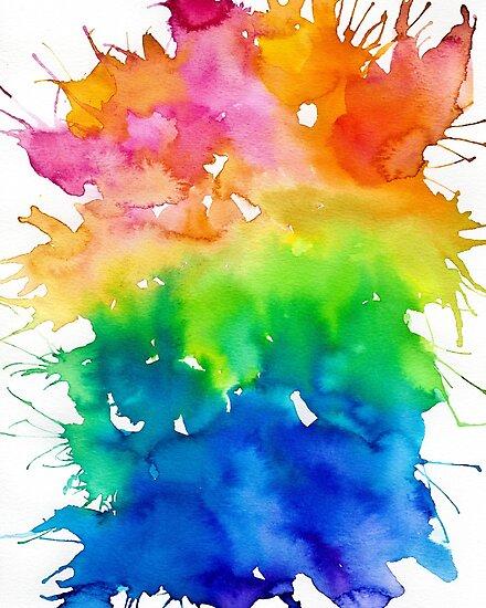 Quot Rainbow Watercolor Paint Splash Art Quot Photographic Print