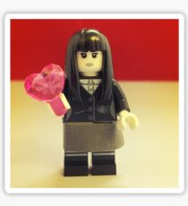 Lego Spooky Girl Valentines Sticker
