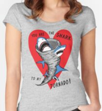 Shark To My Tornado Women's Fitted Scoop T-Shirt