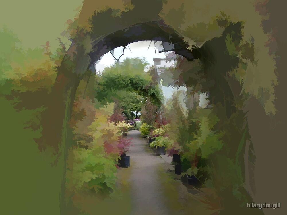 abstract of through the Magical Arch by hilarydougill