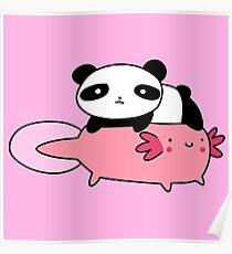 Póster Lil Panda y Axolotl