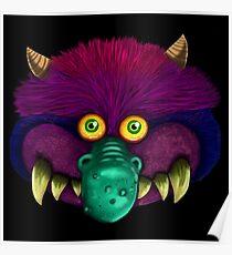 Monster (black background) Poster