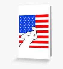 boxing American flag design Greeting Card