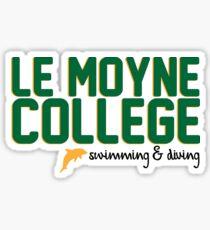 Le Moyne Swimming & Diving Sticker
