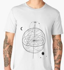 Alchemy symbol with eye, moon, sun  Men's Premium T-Shirt