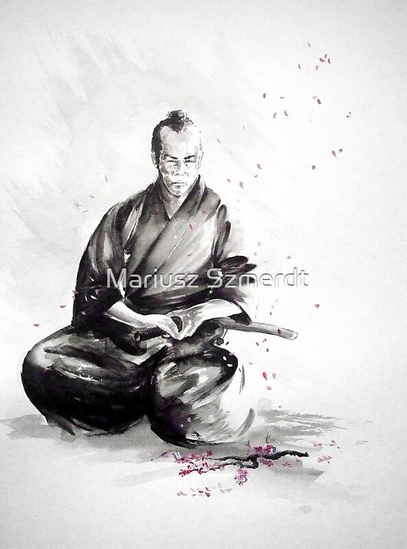 Quot Samurai Sign Japanese Warrior Ink Drawing Mens Gift