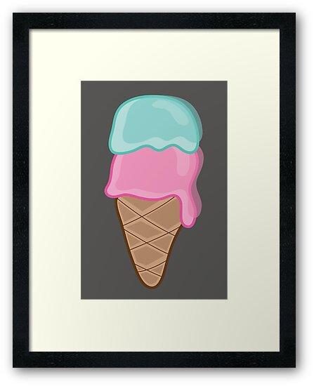I Love Retro Strawberry and Mint Ice-Cream by fatfatin