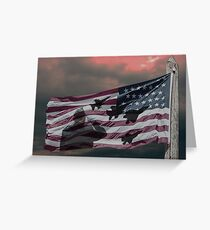 Veteran Flag Greeting Card